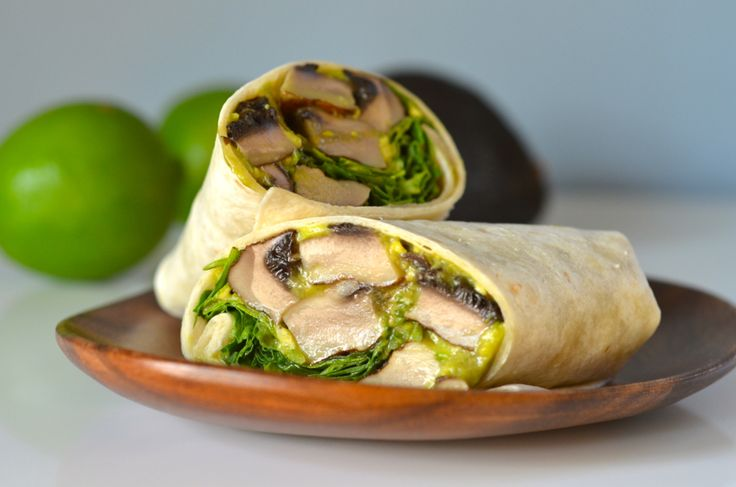 These amazing grilled mushroom wraps coat hearty portabellas in a spicy garlic dressing and smooth slices of creamy avocado.