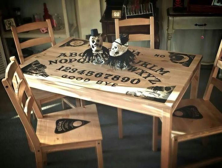 Ouija table and chairs (Another thing I need all year around and not on Halloween)