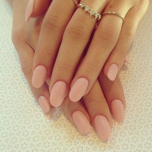 Blush wedding ideas, wedding nails, classic nail design, matte pink, matte colors