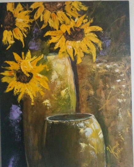 Declive, cuadro en oleo, realizado con espátula