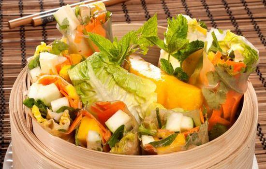 Receta Rollos vietnamitas de ensalada