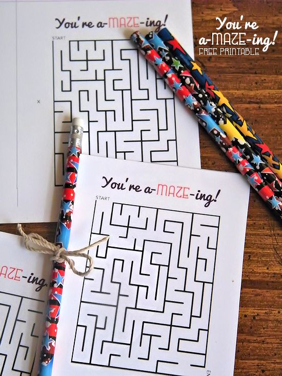 You Re A Maze Ing Free Printable Cards Student Game