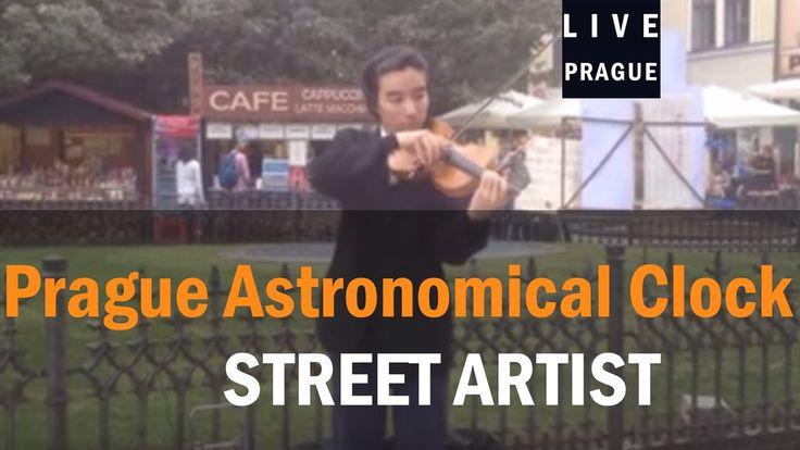 Street Artist Prague - Excellent Asian violinist in Prague! Emotional!