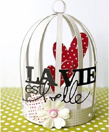 VillarteDesign Artesanato: Como fazer mini gaiola de papel para decoração de ...
