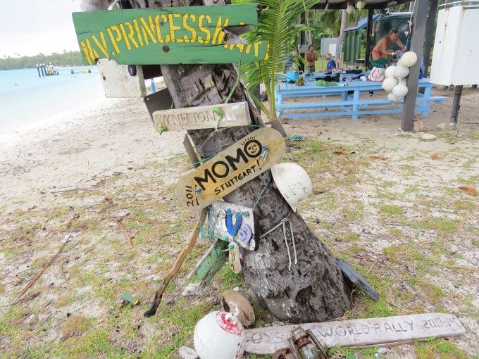 boat signs at Cocos Keeling Islands...let 'em know you were here!
