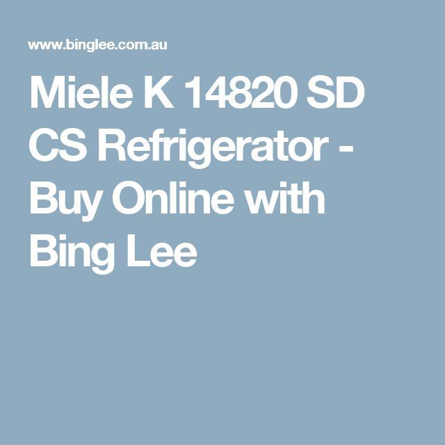 Miele K 14820 SD CS Refrigerator - Buy Online with Bing Lee