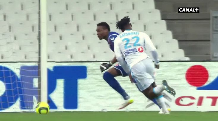 Michy Batshuayi (Marseille) goal against Reims (1-0)