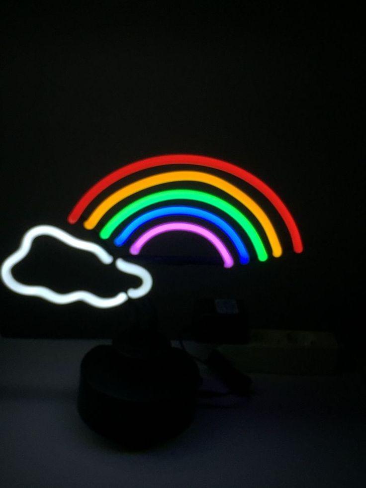 RAINBOW Neon sign Neonleuchte Gifts signs Tables Regenbogen Neonreklame news in Sammeln & Seltenes, Reklame & Werbung, Schilder | eBay!
