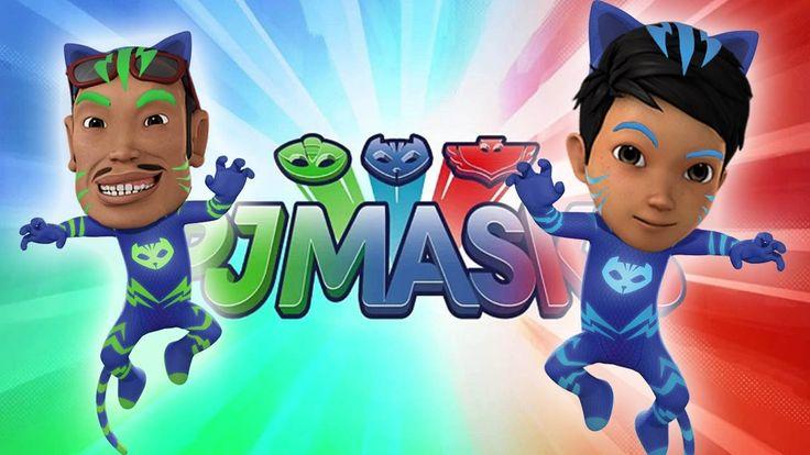Adit Sopo Jarwo Transforms Into PJ Masks - Catboy Finger Family Song PJ ...