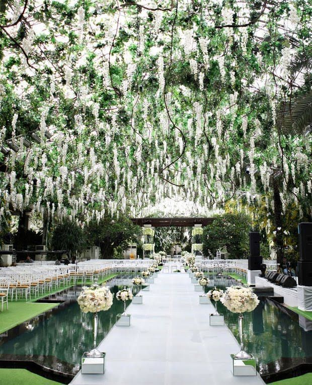 See more images from wedding decor that's over-the-top (in a good way) on domino.com