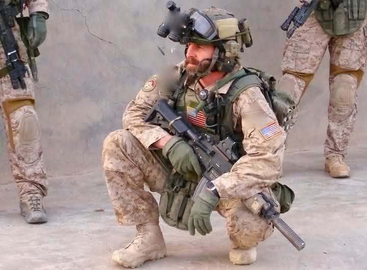 Retired, U.S. Army Delta Force. This picture is Tom at the end of a long night 2009, western Iraq