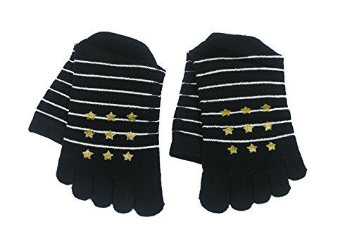 Non Slip Yoga Socks Full Toe with Grip >>> Visit the image link more details.
