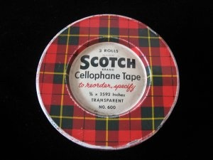 LG Vtg Scotch Brand Cellophane Tape Large Advertising Tin - a Vintage Touch