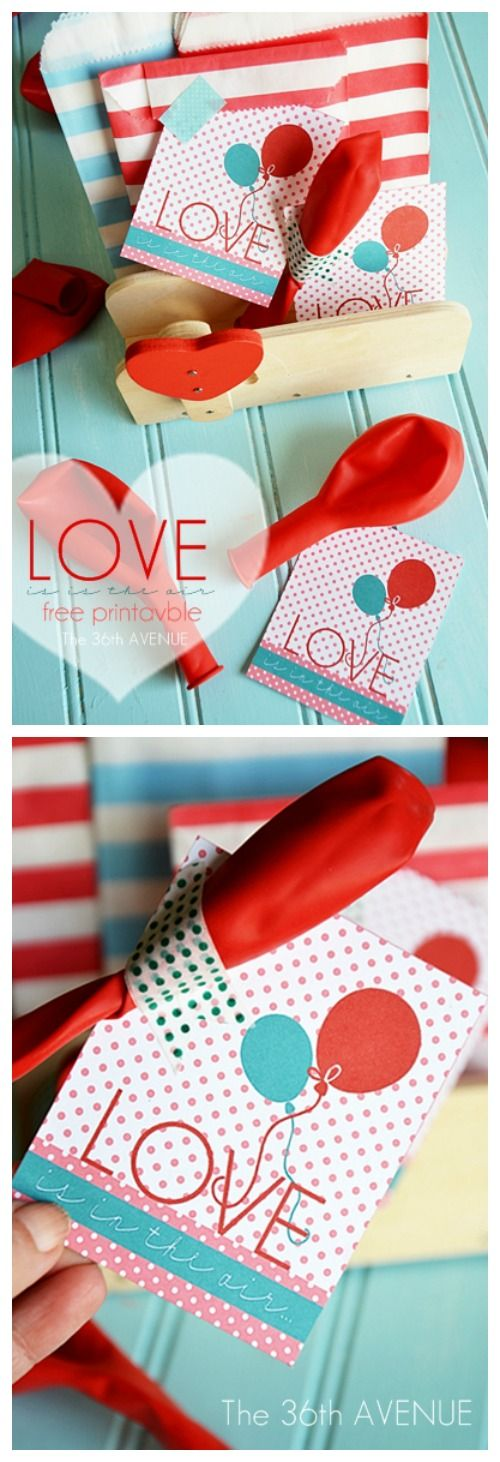 Valentines: Cute Valentine Idea and Free Printable… Perfect for classmates! #valentines #gifts #kids