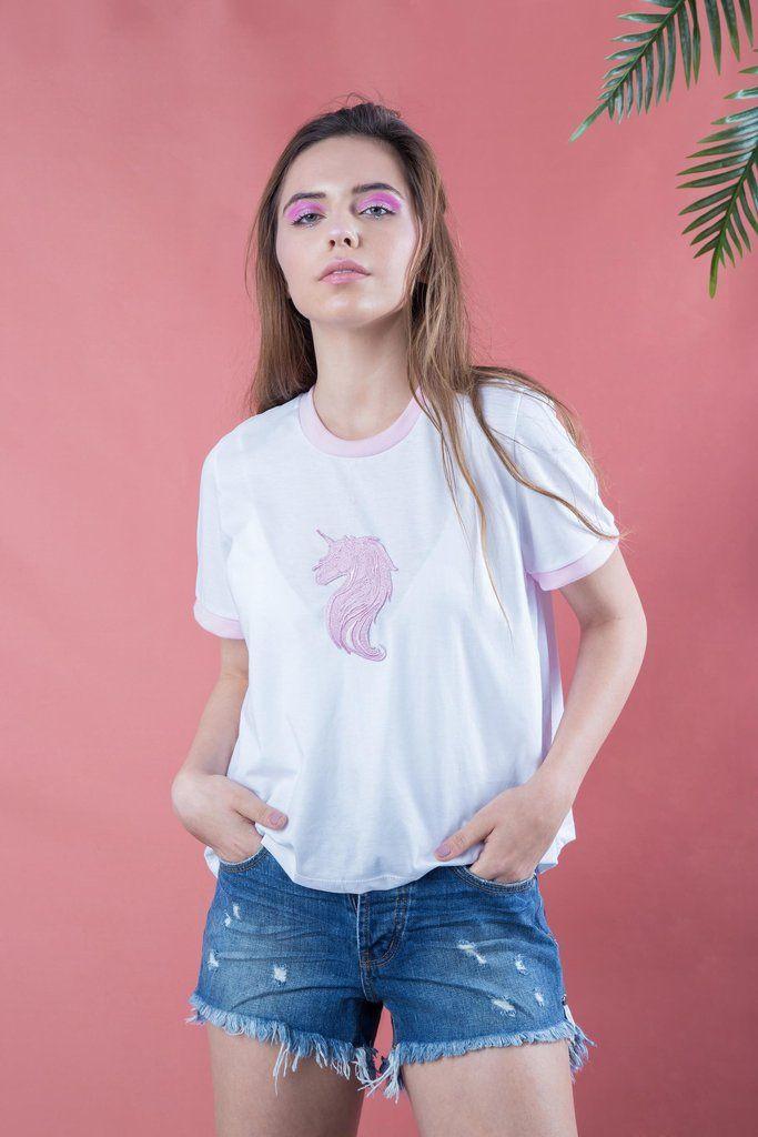 Pink Unicorn Tee