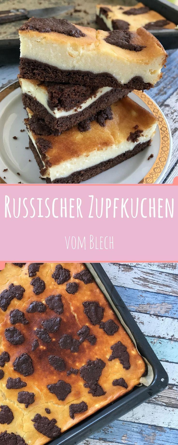 Ein ganzes Blech voll Russischen Zupfkuchen - quasi eine kulinarische Übertreibung für alle Käsekuchenfreunde.