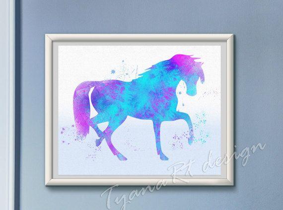 Printable nursery art horse print Nursery decor by TyanaRt on Etsy