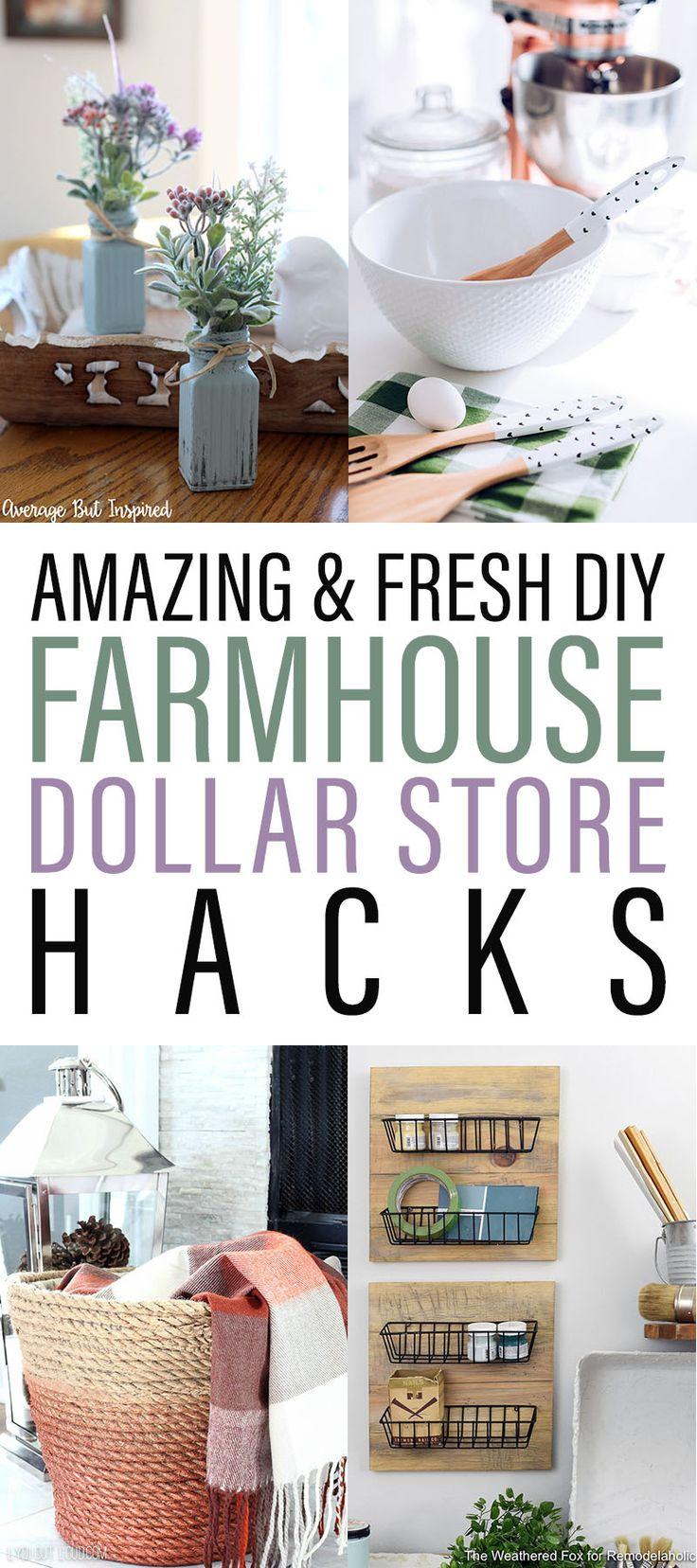Amazing & Fresh DIY Farmhouse Dollar Store Hacks