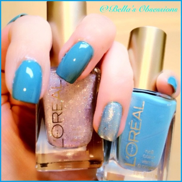 love the color AND the color of the glittered nail