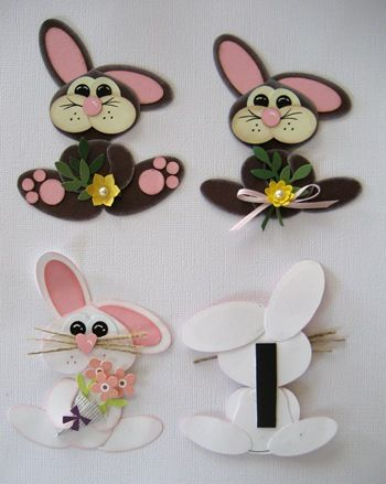 adorable bunnies punch art