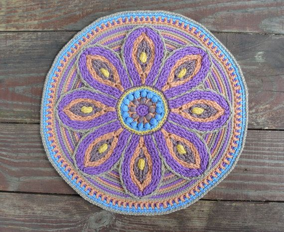 Crochet Mandala PATTERN - Table or Wall Decoration - Mandala for Meditation - PDF - Instant download