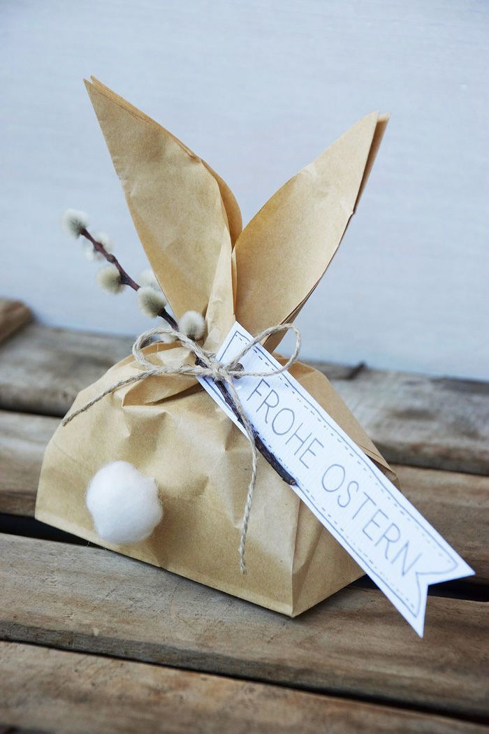 {DIY} Osterverpackung in Hasenform | #Ostern #DIY