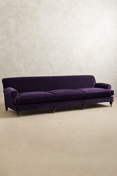 Grand Velvet Willoughby Sofa, Hickory - anthropologie.com #anthrofave