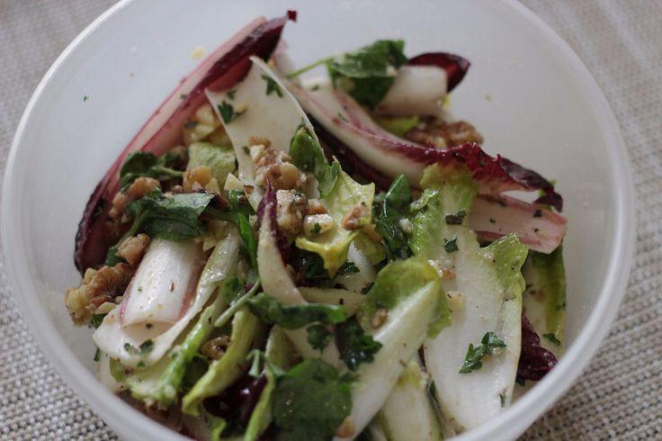 Witlof, Caramalised Walnut and Roquefort Salad