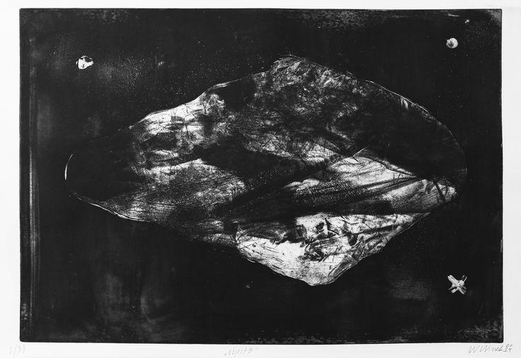 """Witold Winek """"object-B"""", 53X78, aquatint, 2014"""