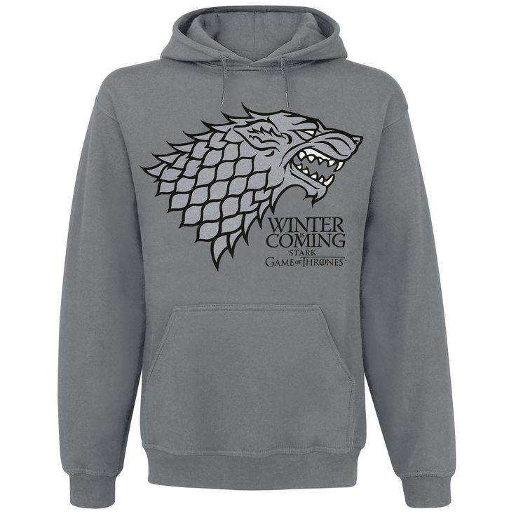 Winter Is Coming - Hooded sweatshirt by Game Of Thrones - Article Number: 261570 - from 43.99 € - EMP Merchandising ::: The Heavy Metal Mailorder ::: Merchandise Shirts and More