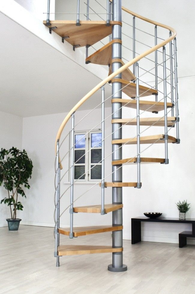 Dolle Oslo Grey Spiral Stair Kit    Available In 3 Diameters: 1200mm, 1400mm