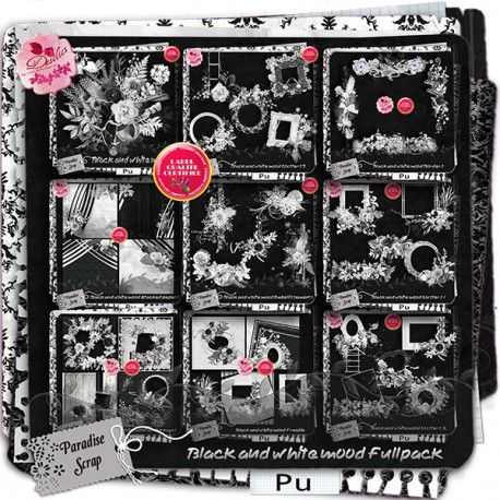 **NEW** Black and White Mood by Desclics  Available @ http://www.paradisescrap.com/fr/fullpackbundle/12173-crying-heart-by-desclics.html