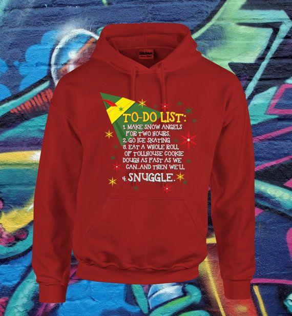 Buddy The Elf To Do List Christmas SweatShirt by kitschklothing