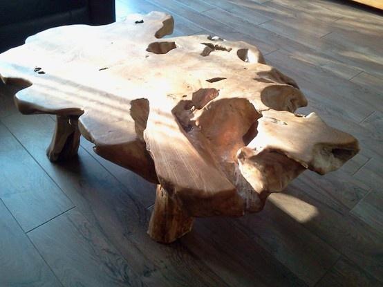 boomstronk salon tafel wauwwww
