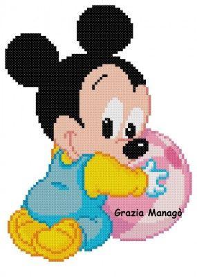 Baby Topolino con palla - Le crocette di Grazia
