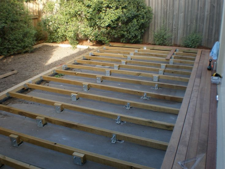 Deck over concrete slab for the home pinterest the o for Building a house on a slab