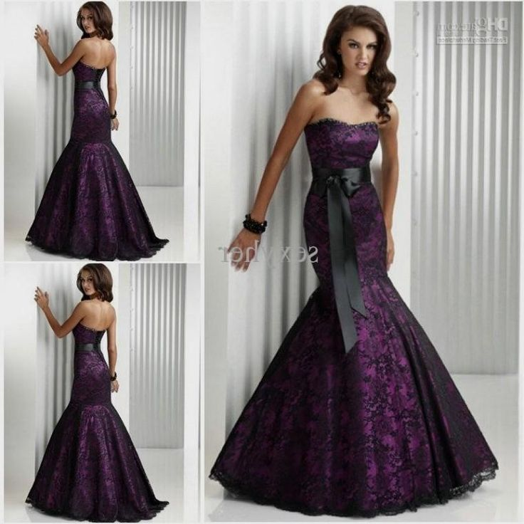 Black And Purple Wedding Dresses