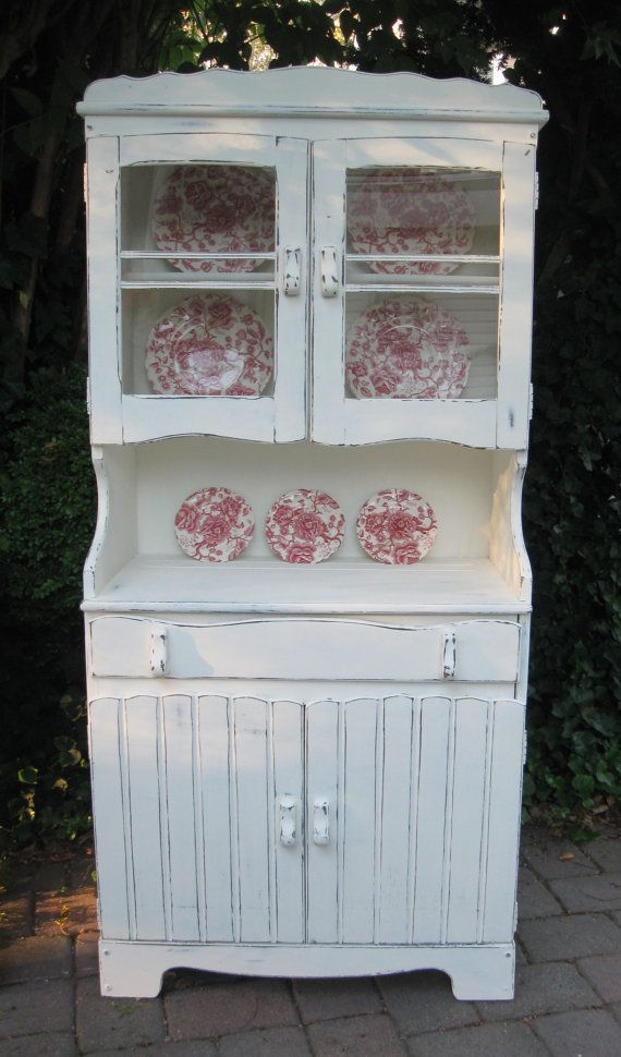 reserved karen vintage china cabinet hutch shabby chic cupboard farmhouse cupboards shabby. Black Bedroom Furniture Sets. Home Design Ideas