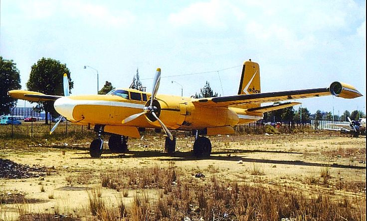 A civilian modified A-26 Invader.   Commercial aircraft