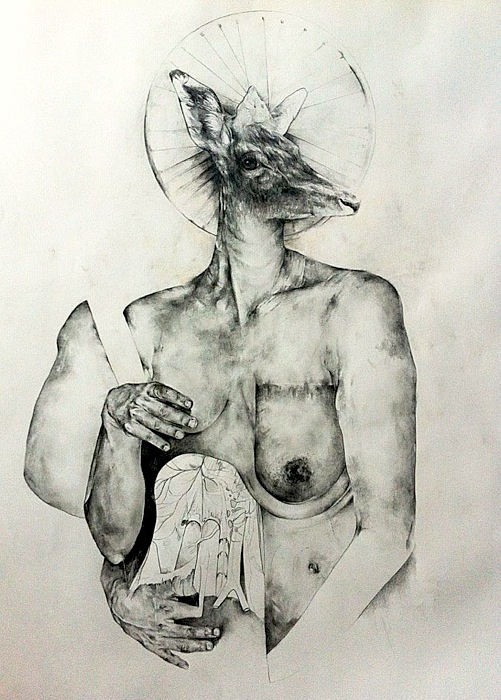 Miss Surgery  2012  70X100  Pencil on paper