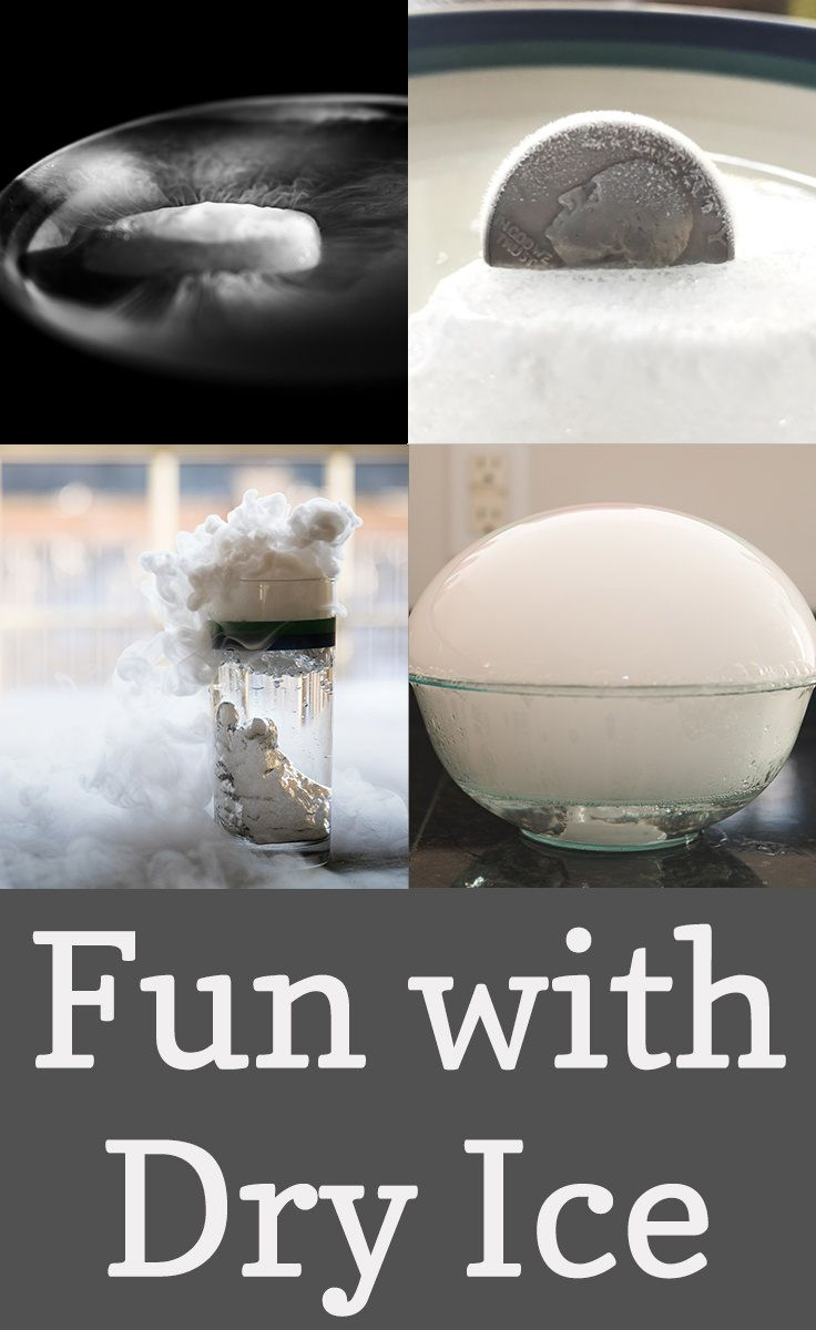 We recently received a package shipped with dry ice, & spent a few hours experimenting & playing with this cool material.