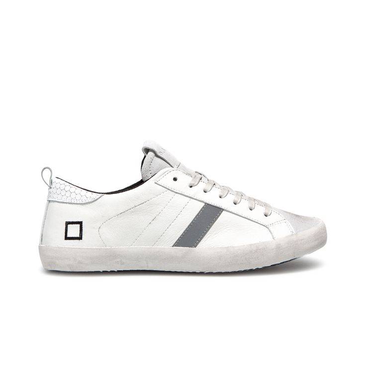 D.A.T.E. Fall Winter 2015-16 // Hill Low Nappa White. Shop at:http://bit.ly/1NslMrM #datesneakers