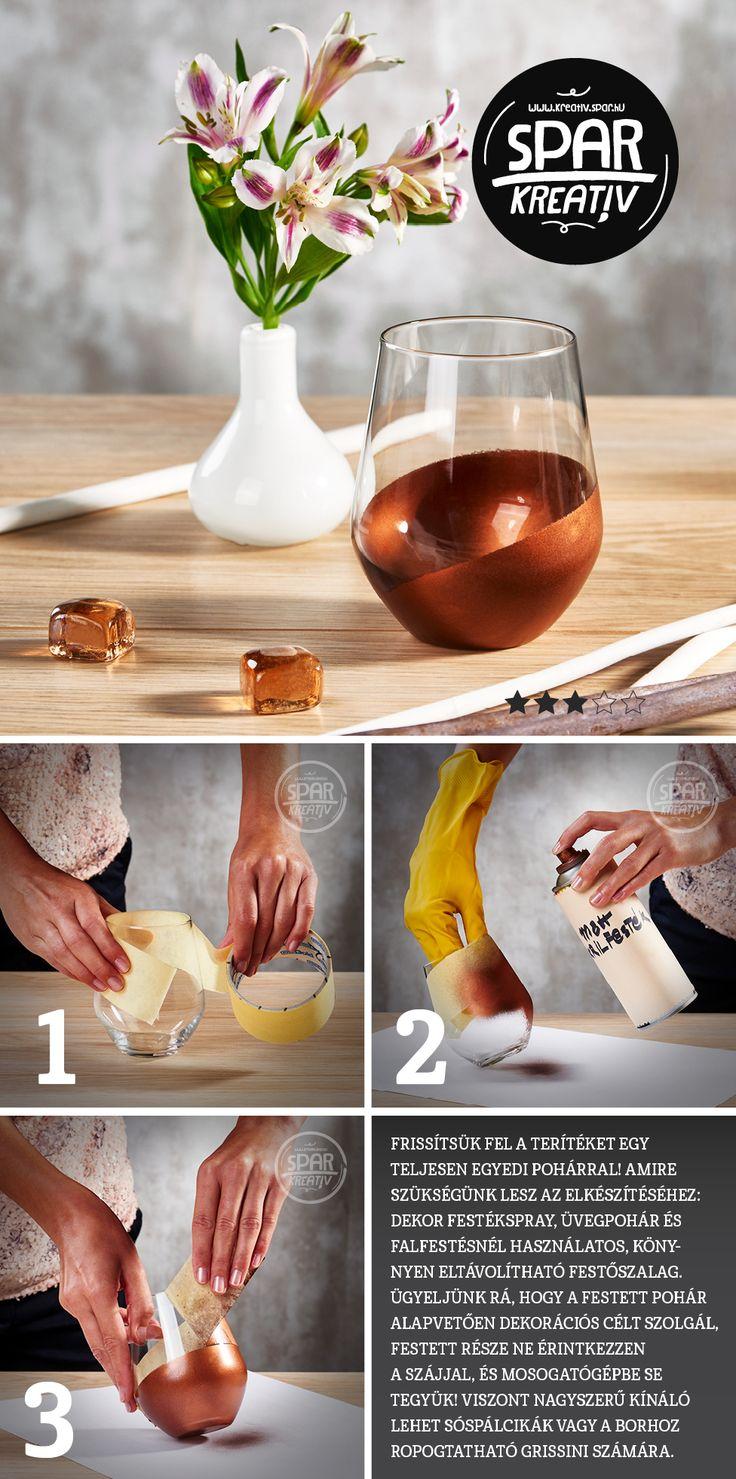 Egyedi hangulatpoharak: Frissítsük fel a terítéket egy teljesen egyedi pohárral!