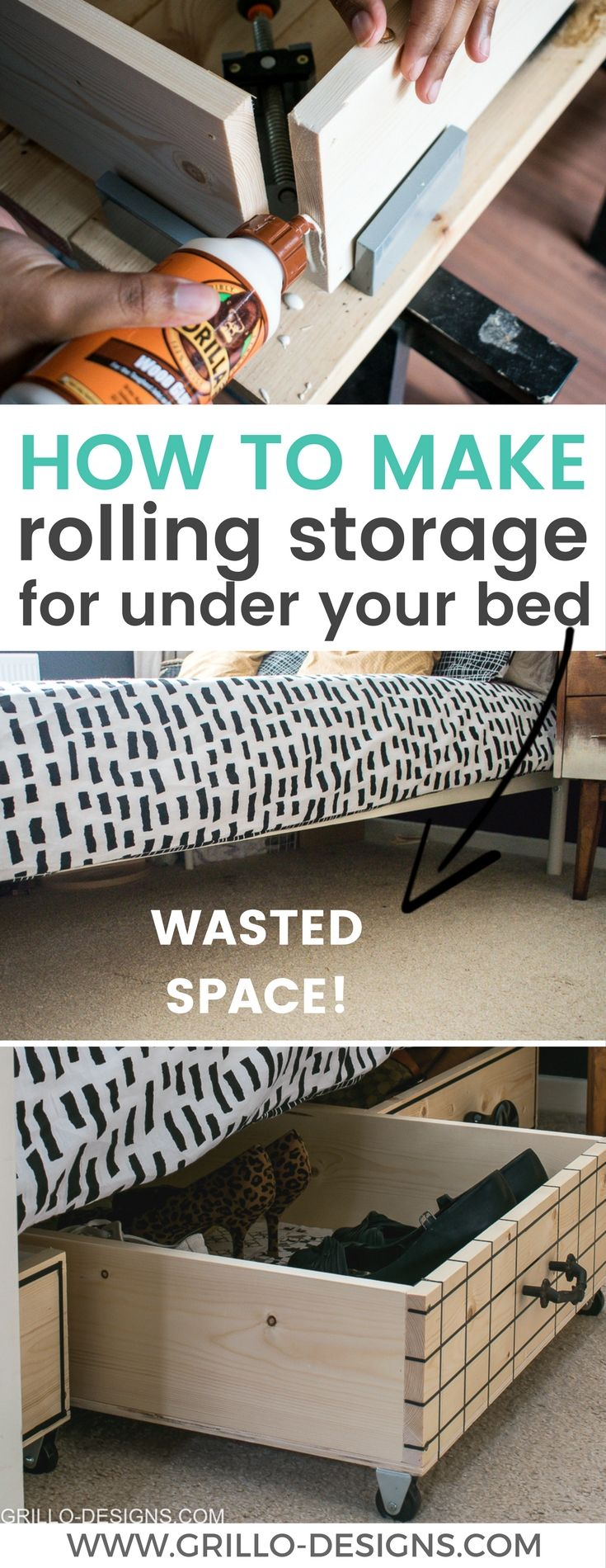 if your'e struggling for space in your bedroom - try making these rolling DIY under bed storage boxes. They are a great way to add storage to any room! Ive also rounded up some of my favourite modern vintage knobs!