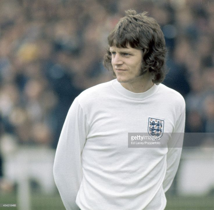 Mick Channon of England during the international football match... News Photo | Getty Images