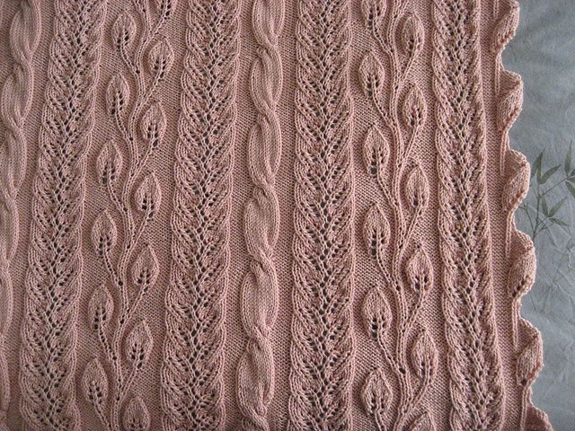 Knit Afghan Patterns In Strips : Twining Vine Strip-Knitted Afghan pattern by Sivia Harding