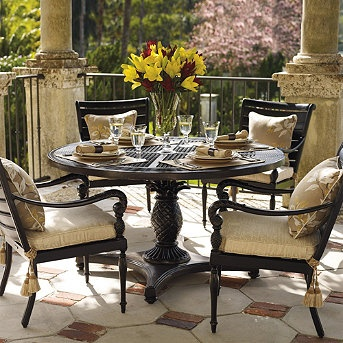 Attractive British Colonial Daybed And Ottoman With Cushions. Outdoor Dining SetOutdoor  ... Good Looking
