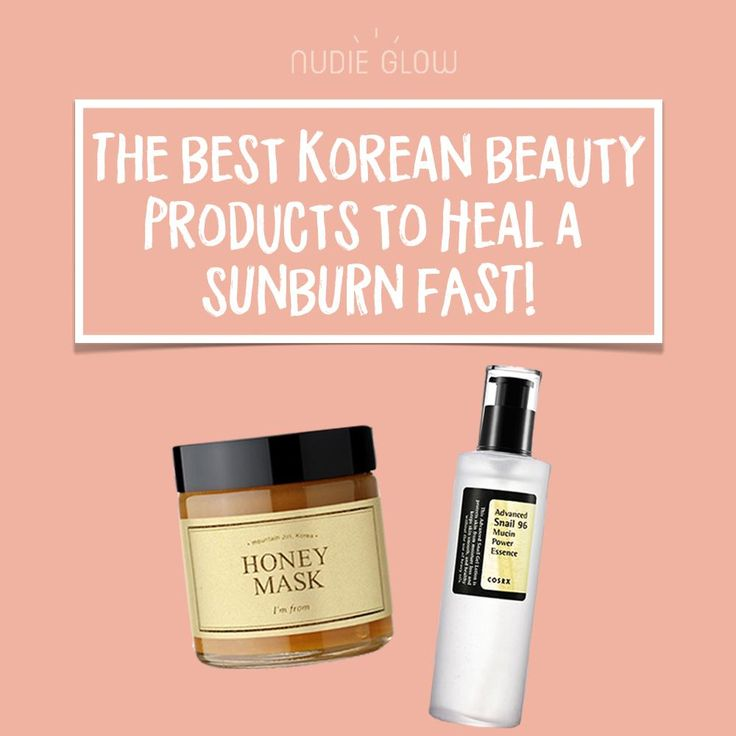 How to Heal a Sunburn Fast - Nudie Glow Best Korean Beauty Store Australia
