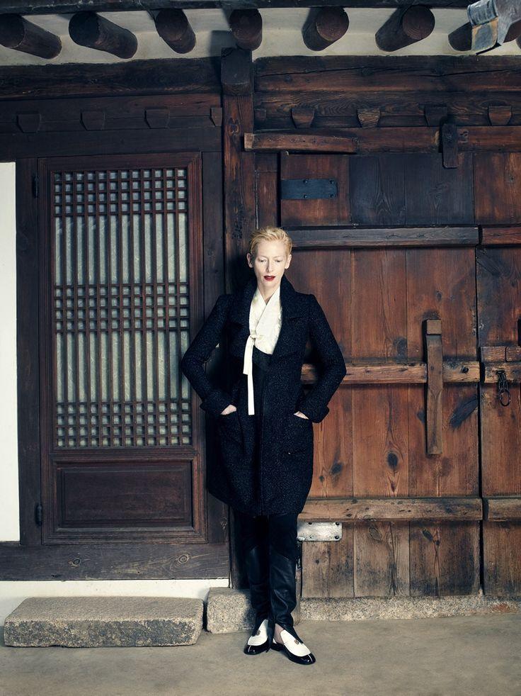 Tilda Swinton by Hong Jang Hyun  for Vogue Korea August 2015  7