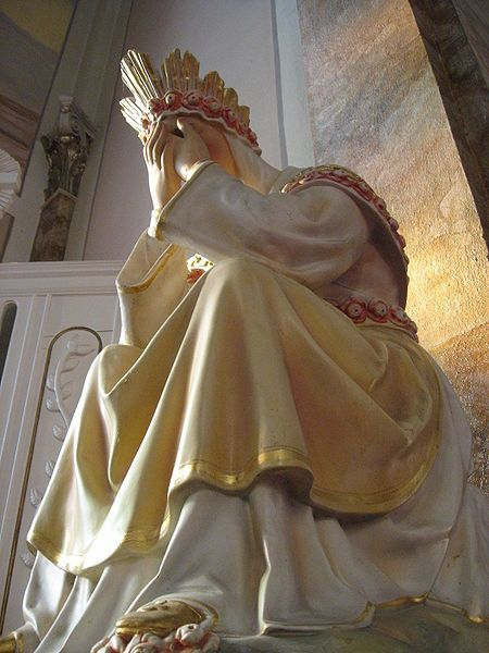 Our Lady of La Salette - crying (Oh, how we must break her heart for the pain we cause her Son). :(
